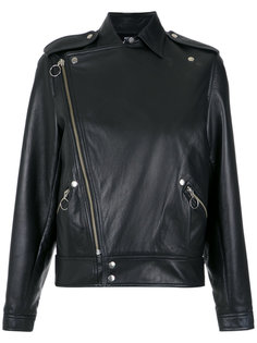 leather biker jacket Reinaldo Lourenço