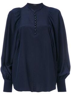 блузка с объемными рукавами  Joseph