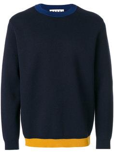 свитер с контрастной окантовкой Marni
