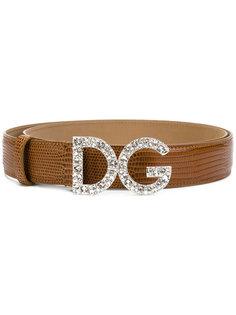 ремень с фирменной пряжкой Dolce & Gabbana