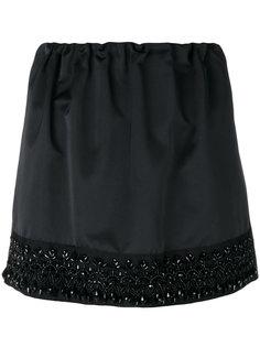 мини-юбка с вышивкой бусинами Nº21