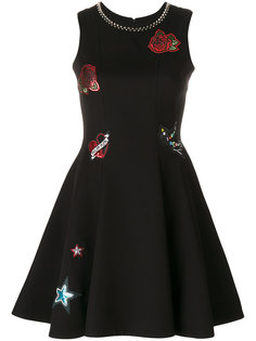 платье с нашивками с логотипом Philipp Plein