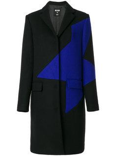 пальто с контрастной вставкой MSGM