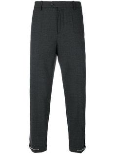 брюки с манжетами на молнии Neil Barrett