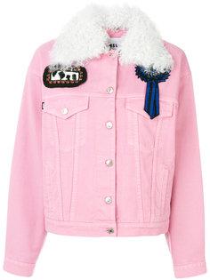 джинсовая куртка с нашивками  MSGM