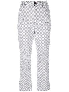 прямые джинсы с узором в клетку Alexander Wang