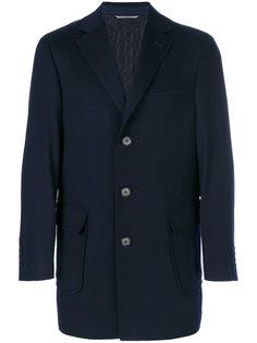 короткое пальто с накладными карманами Canali