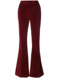 бархатные брюки клеш  Prada