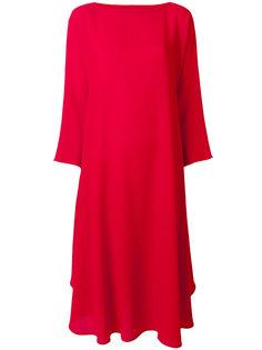 свободное платье с вырезом-лодочкой Daniela Gregis