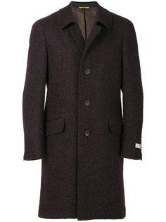 однобортное приталенное пальто Canali