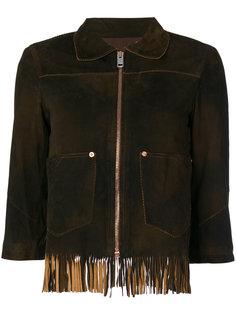 куртка с укороченными рукавами и бахромой Diesel