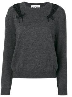 свитер со шнуровкой  Moschino