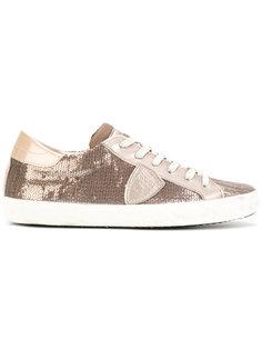 декорированные кроссовки на шнуровке Philippe Model
