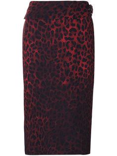 юбка-карандаш с леопардовым принтом Tom Ford