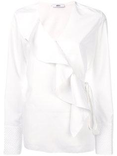 блузка с оборкой спереди Area