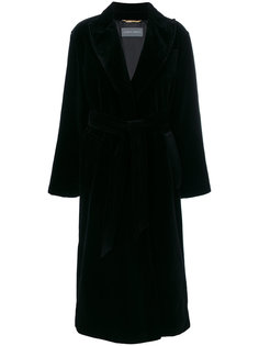 свободное пальто с поясом  Alberta Ferretti