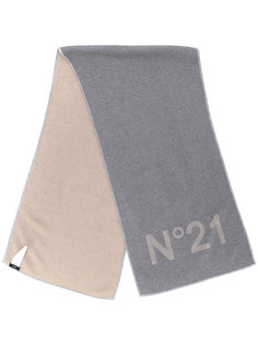 шарф с вышитым логотипом Nº21