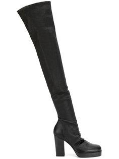 сапоги длиной выше колена Rick Owens