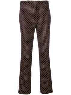 строгие брюки с вышивкой  Etro