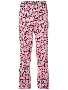 брюки с принтом Plume Marni