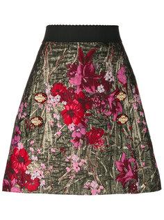 А-образная юбка с цветочным жаккардовым узором  Dolce & Gabbana