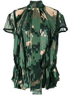 плиссированная блузка Sacai