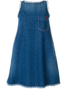 джинсовое свободное платье Love Moschino