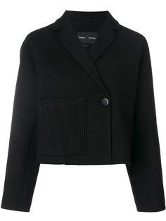 укороченная куртка с трикотажной отделкой  Proenza Schouler