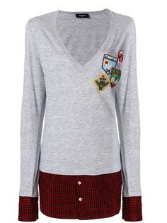 свитер с контрастным подолом Dsquared2