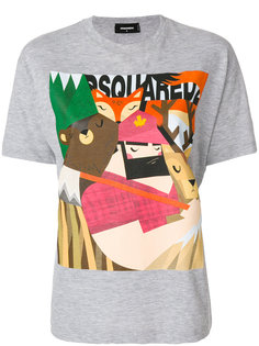 футболка с графическим узором Dsquared2