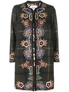 пальто в клетку с вышивкой  Bazar Deluxe