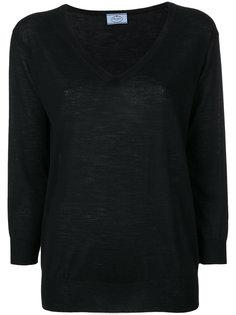 свитер с глубоким вырезом  Prada