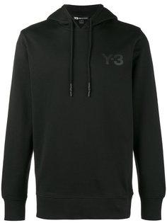 толстовка с капюшоном с черным логотипом Y-3