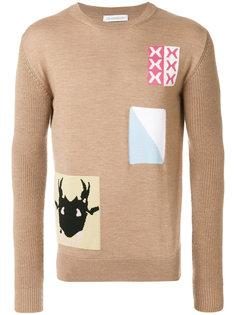 свитер с заплатками JW Anderson