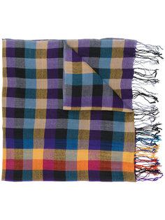 клетчатый шарф с бахромой Ps By Paul Smith