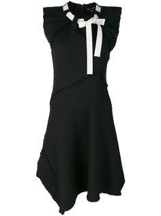 асимметричное платье с завязкой  Proenza Schouler