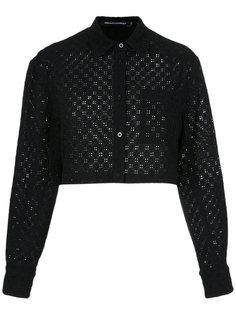 lace cropped shirt Reinaldo Lourenço