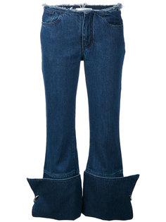 джинсы с подворотами Marquesalmeida