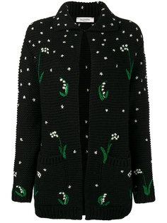 кардиган с цветочной вышивкой Valentino