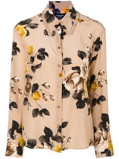 блузка с принтом с розами Rochas