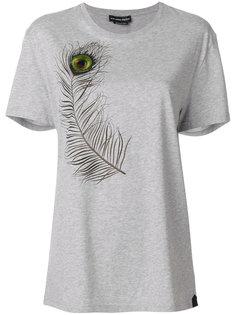 футболка с павлиньим пером Alexander McQueen