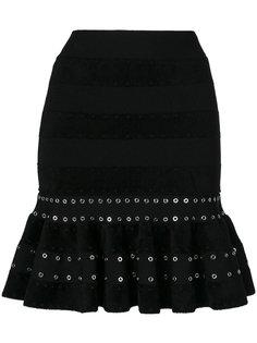 юбка с заниженной талией Alexander McQueen