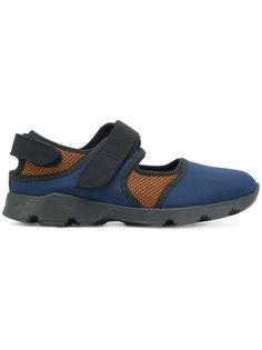 кроссовки с сетчатыми вставками на липучках Marni