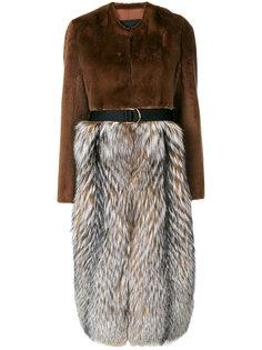 пальто с панельным дизайном Cristal Blancha