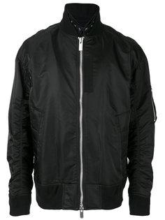куртка-бомбер на молнии Sacai