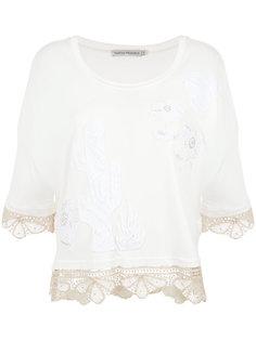 lace inserts blouse Martha Medeiros
