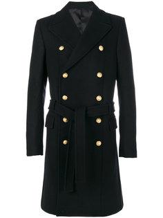 пальто с декоративными пуговицами Balmain