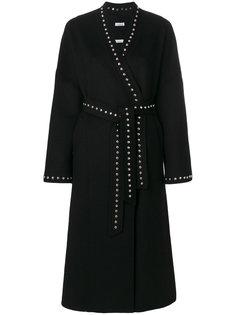 пальто-кардиган с заклепками и поясом  P.A.R.O.S.H.