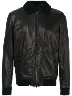 кожаная куртка с эластичными манжетами Salvatore Santoro