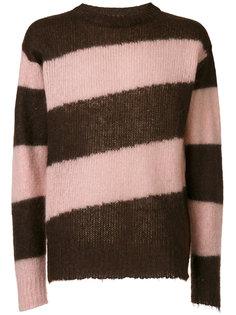 свитер с диагональными полосками Marni